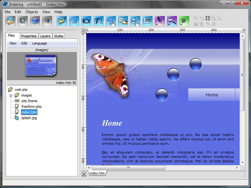 antenna screenshot